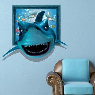 3D Muursticker Met Een Haai