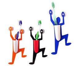Plastic Tandenborstelhouder met Poppetje
