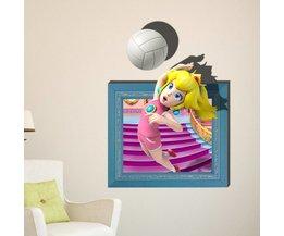 3D Verwijderbare Muursticker met spelend meisje voor kinderkamer