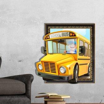 Muursticker met Bus