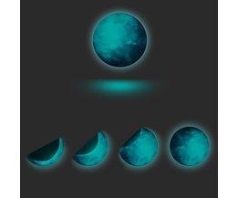 Lichtgevende Sticker Maan 30cm
