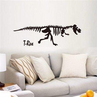 Zwarte Dinosaurus T-Rex Muursticker