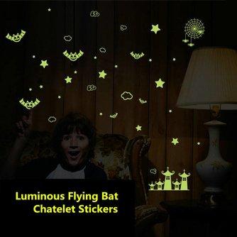 Lichtgevende Stickers Vleermuizen Kasteel