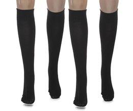Zwarte Compressie sokken tegen vermoeidheid