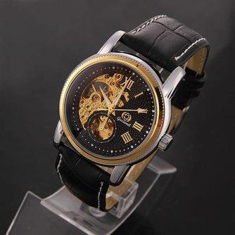 Herenhorloge met PU Leren Bandje Gucamel GT05