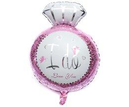 Roze Heliumballon 'I Do'