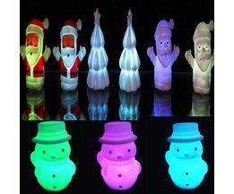 Kerstlichtje met Sneeuwman of Kerstman