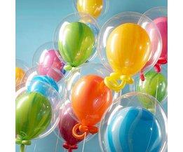 Transparante Latex Ballonnen 10 Stuks