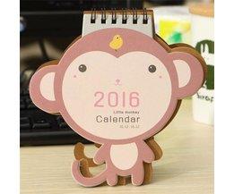 2016 Kalender met Schattig Aapje