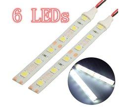 LED Strips 12V 10cm 6 LED 5050 2 Stuks