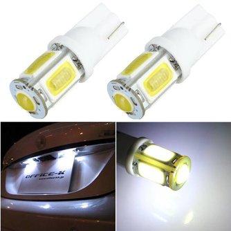 T10 COB LED Lamp 5 SMD W5W Wit voor de Auto 1x