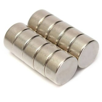 Neodymium Magneetjes Rond 10 Stuks