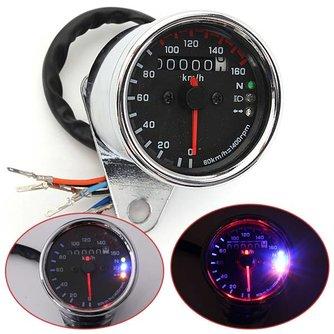 Kilometerteller Motor met Snelheidsmeter