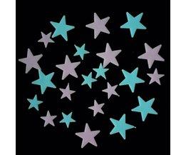 Glow in the Dark-Sterren (24 Stuks)