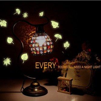 Glow In The Dark-Muurstickers met Bladeren