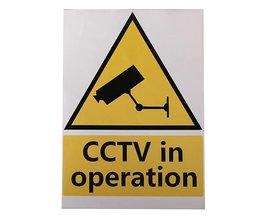 CCTV-Stickers (4 Stuks)