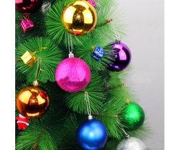 Kerstballen in Roze, Zilver of Goud (12 Stuks)