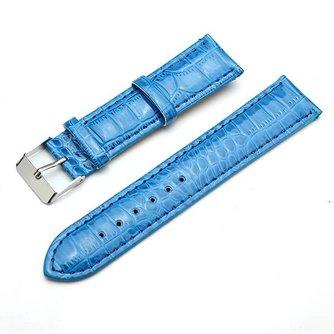 Blauw Horlogebandje Van Leer