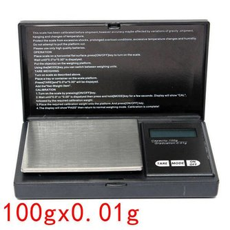 Hoge Precisieweegschaal voor Sieraden 100g x 0.01g