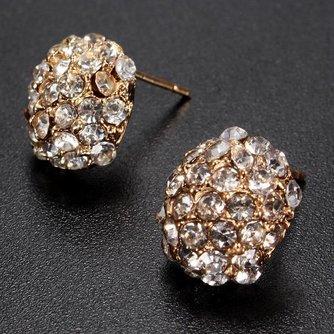 Goudkleurige Oorbellen met Kristallen