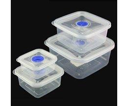 Vierkant Transparant Voedselbakje van Plastic