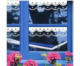 Romantische Witte Raamstickers van PVC-Materiaal 4 Stuks