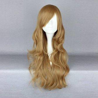 Blonde Lange Pruik met Golvend Haar