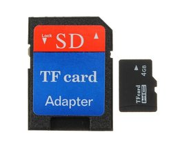 4GB Micro SD TF Inclusief Adapter