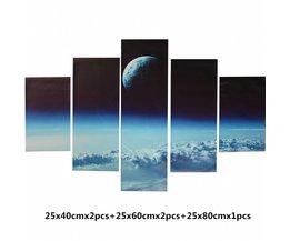 Canvas Schilderijen Outer Space Set 5Stuks