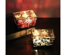 Waxinelichthouder met Mozaiek