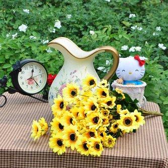 Artificieel boeket zonnebloemen