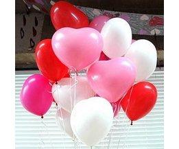 Hart Ballonnen 50Stuks