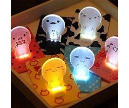 LED kaart in verschillende kleuren