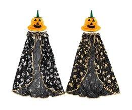 Halloween Kostuum Kind met Cape en Pompoenhoed