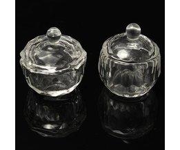 Glazen Potje voor Acryl Vloeistof