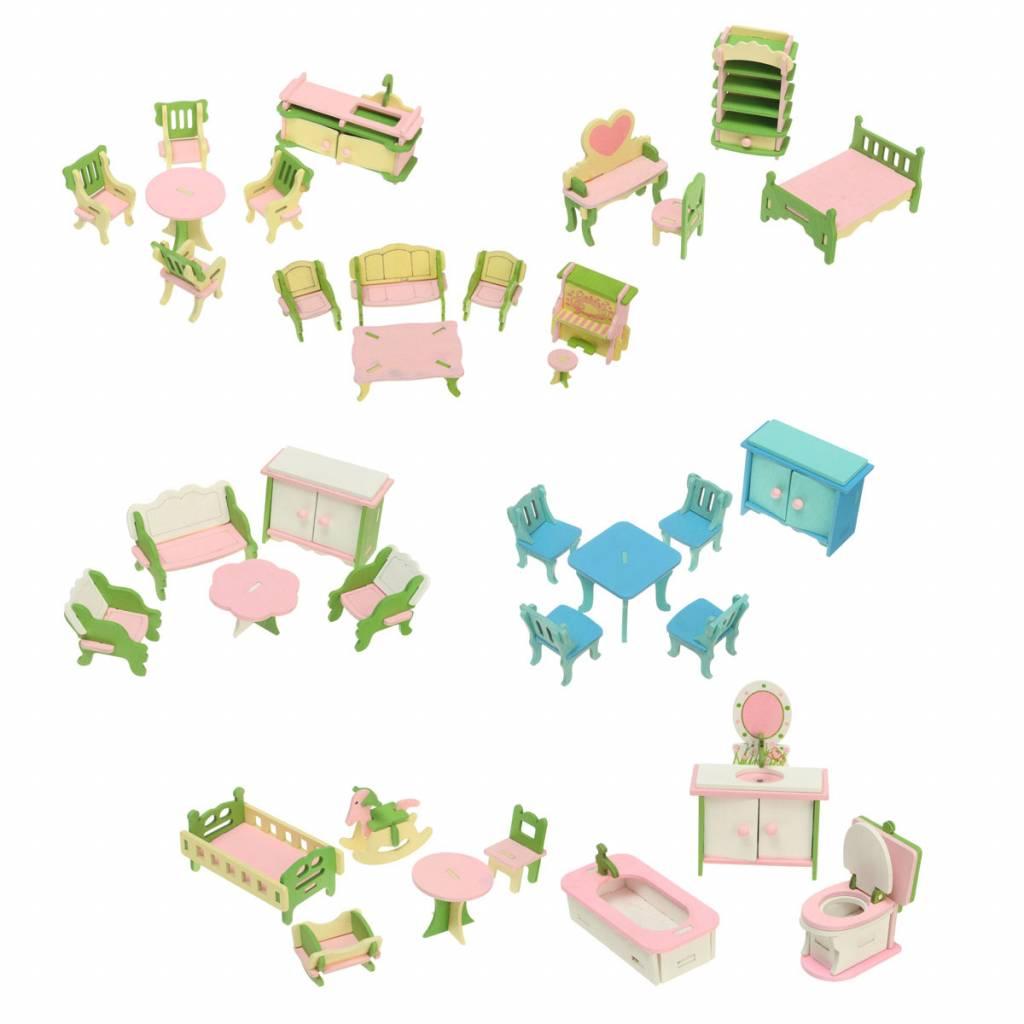 Bouwpakket Poppenhuis Miniaturen Van Hout
