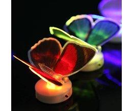 Kleuren LED Lamp Vlindervorm