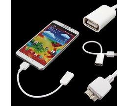 Micro USB OTG Kabel voor Samsung Galaxy Note 3 N9000