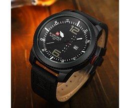 Naviforce 9063 Zwart Horloge Voor Heren