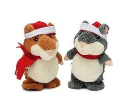 Pluche Hamster Loopt Praat Kerstmis