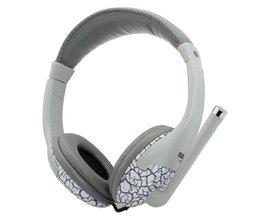 Trendy hoofdtelefoon in grijs of oranje kleur