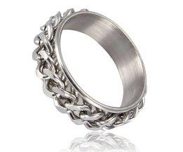 Unisex Ring met Ketting