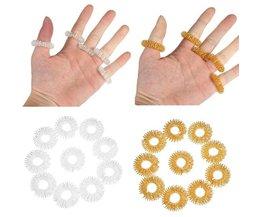 Ringen voor Vingermassage (10 Stuks)