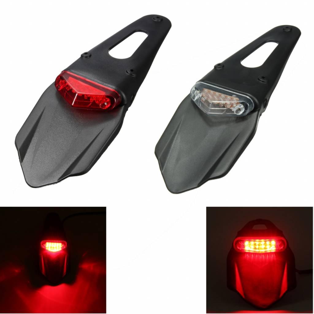 Spatbord Achterlicht voor de Motor met 12 LED-lampjes