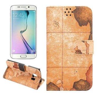 Hoesje Met Kaartpatroon Voor Samsung Galaxy S6 Edge