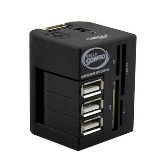 Multifunctionele USB Splitter en Kaartlezer