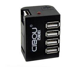 4 Poorten USB Verdeler