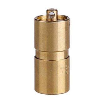 Mini Zaklamp LED Messing 30mm