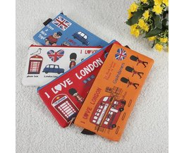Leuke I Love London Etui van Canvas