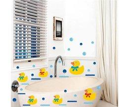 Stickers Badkamer met Eend Design